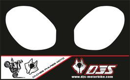 1 jeu de caches phares DJS pour Triumph street triple microperforés qui laissent passer la lumière - référence : street triple-2011-2012-blanc uni-
