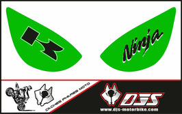 1 jeu de caches phares DJS pour Kawasaki zx6r microperforé qui laissent passer la lumière - référence : zx6r-2005-2006-002-