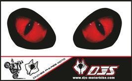 1 jeu de caches phares DJS pour TRIUMPH street triple 765 2016-2018  microperforés qui laissent passer la lumière - référence : yeux modèle 1-