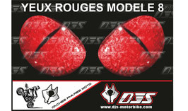 1 jeu de caches phares DJS pour  Honda CBR 600 RR 2008-2012 microperforés qui laissent passer la lumière - référence : yeux modèle 8-