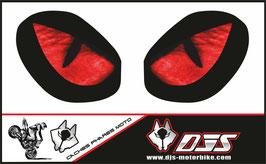1 jeu de caches phares DJS pour TRIUMPH street triple 765 2016-2018 microperforés qui laissent passer la lumière - référence : yeux modèle 3-