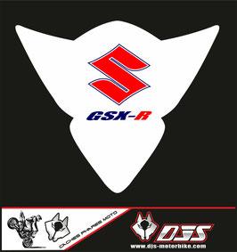 1 cache phare DJS pour Suzuki GSX-R 1000 2005-2006 microperforé qui laisse passer la lumière - référence : gsx-r-1000-2005-2006-004-