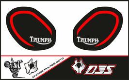 1 jeu de caches phares DJS pour Triumph speed triple microperforés qui laissent passer la lumière - référence : speed triple-r-2011-2015-015-