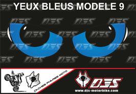 1 cache phare DJS pour SUZUKI GSX-R 1000 2009-2015 microperforé qui laisse passer la lumière - référence : yeux modèle 9-