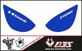 1 jeu de caches phares DJS pour Kawasaki zx6r microperforé qui laissent passer la lumière - référence : zx6r-2005-2006-015-