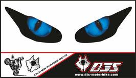 1 jeu de caches phares DJS pour Triumph daytona 2009-2012 microperforés qui laissent passer la lumière - référence : yeux modèle 1-