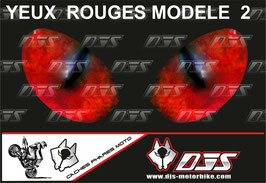 1 jeu de caches phares DJS pour TRIUMPH speed triple-2011-2015 microperforés qui laissent passer la lumière - référence : yeux modèle 2-