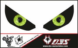 1 jeu de caches phares DJS pour Kawasaki Z1000 2015-2021 microperforés qui laissent passer la lumière - référence : z1000-2015-2021-yeux modèle 7-