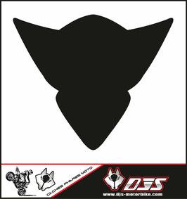 1 cache phare DJS pour Suzuki GSX-R 1000 2005-2006 microperforé qui laisse passer la lumière - référence : gsx-r-1000-2005-2006-noir uni-