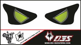 1 jeu de caches phares DJS pour KAWASAKI  ZX6R-2003-2004 microperforés qui laissent passer la lumière - référence : yeux modèle 14-
