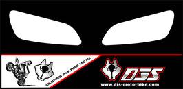 1 jeu de  caches phares DJS pour Honda cbr rr 600-1000  microperforés qui laissent passer la lumière - référence : cbr-600-1000-blanc uni-