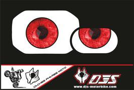 1 jeu de caches phares DJS pour Bmw F800R de 2010 microperforés qui laissent passer la lumière - référence : Bmw F800R  2010-yeux 007 rouges-
