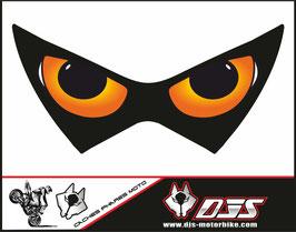 1 cache phare DJS pour Kawasaki z 800 microperforé qui laisse passer la lumière - référence : Z800-yeux modèle 9-