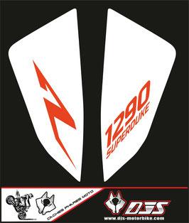 1 jeu de caches phares DJS pour KTM SUPERDUKE R ET RR 1290 2020-2021 microperforés qui laissent passer la lumière - référence : superduke 1290 R 2020-2021-003-