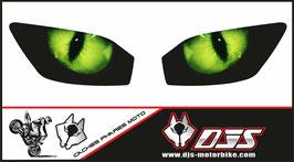 1 jeu de caches phares DJS pour YAMAHA r6 1999-2002 microperforés qui laissent passer la lumière - référence : YAMAHA r6 1999-2002-yeux modèle 1-