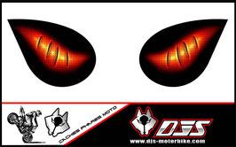 1 jeu de caches phares DJS pour KAWASAKI ZX-6R-2007-2008 microperforés qui laissent passer la lumière - référence : yeux modèle 6-