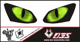 1 jeu de caches phares DJS pour YAMAHA R1 2007-2008 microperforés qui laissent passer la lumière - référence : YAMAHA R1 2007-2008-yeux modèle 19-
