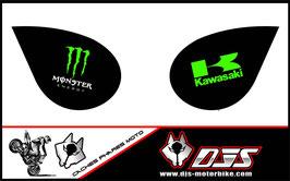 1 jeu de caches phares DJS pour Kawasaki zx6r microperforés qui laissent passer la lumière - référence : zx6-r-2007-2008-001-