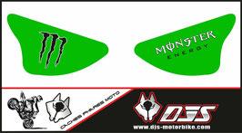 1 jeu de caches phares DJS pour Kawasaki zx6r microperforé qui laisse passer la lumière - référence : ZX6R-2003-2004-002-