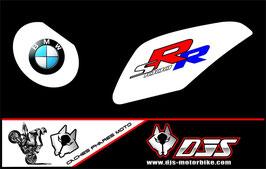 1 jeu de caches phares DJS pour BMW S1000RR microperforés qui laissent passer la lumière - référence : S1000RR-2009-2014-001