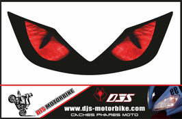 1 jeu de  caches phares DJS pour Honda CBR 600f-2001-2006 microperforés qui laissent passer la lumière - référence : CBR 600f-2001-2006-yeux 003-