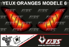 1 jeu de caches phares DJS pour KTM SUPERDUKE 1290 2017-2021 microperforés qui laissent passer la lumière - référence : yeux modèle 6-