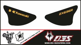 1 jeu de caches phares DJS pour Kawasaki zx6r microperforé qui laisse passer la lumière - référence : ZX6R-2003-2004-004-