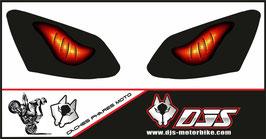 1 jeu de caches phares DJS pour YAMAHA R1 2007-2008 microperforés qui laissent passer la lumière - référence : YAMAHA R1 2007-2008-yeux modèle 6-