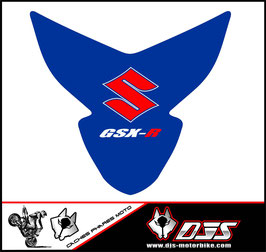 1 kit  cache phare DJS pour suzuki gsxr 600-750 k4 k5 microperforé qui laisse passer la lumière - référence : gsxr-600-750-2004-2005-019-