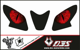 1 jeu de caches phares DJS pour  APRILIA RSV4 2014-2020 microperforés qui laissent passer la lumière - référence : yeux modèle 4-