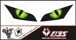 1 jeu de caches phares DJS pour Kawasaki zx10r 2011-2015 microperforés qui laissent passer la lumière - référence : zx10r 2011-2015-yeux modèle 1-