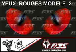 1 jeu de caches phares DJS pour  Honda CBR 600 RR 2008-2012 microperforés qui laissent passer la lumière - référence : yeux modèle 2-