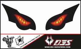 1 jeu de caches phares DJS pour HONDA CBR 1000 RR -2008-2011 microperforés qui laissent passer la lumière - référence : yeux modèle 6-