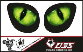 1 jeu de caches phares DJS pour Kawasaki zx7r 1999 microperforés qui laissent passer la lumière - référence : zx7-r-1999-YEUX 001 VERTS-