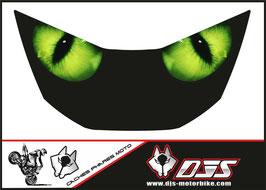 """1 cache phare DJS pour Honda CBR 929 microperforé qui laisse passer la lumière - référence : CBR 929-2000-2002-""""yeux verts""""-"""