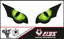 1 jeu de caches phares DJS pour HONDA CBR 1000 RR  microperforés qui laissent passer la lumière - référence : CBR 1000-2008-2011-yeux verts-