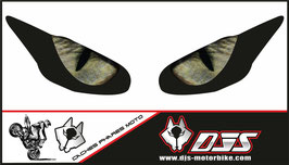 1 jeu de caches phares DJS pour Triumph daytona 2009-2012 microperforés qui laissent passer la lumière - référence : yeux modèle 3-