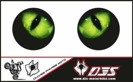 1 jeu de caches phares DJS pour triumph street triple 2007-2010 microperforés qui laissent passer la lumière - référence : triumph street triple 2007-2010-yeux modèle 1-