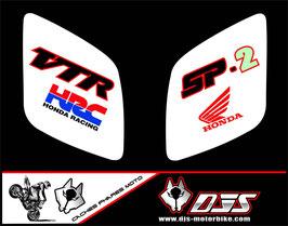 1 jeu de caches phares DJS pour Honda vtr sp1-sp2  microperforés qui laissent passer la lumière - référence : VTR SP1-SP2-014-