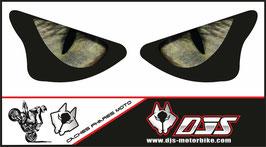 1 jeu de caches phares DJS pour KAWASAKI  ZX6R-2003-2004 microperforés qui laissent passer la lumière - référence : yeux modèle 3-