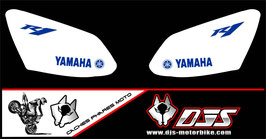 1 jeu de caches phares DJS pour YAMAHA R1 2007-2008 microperforé qui laissent passer la lumière - référence : r1-2007-2008-006-