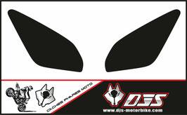 1 jeu de caches phares DJS pour Yamaha MT09 TRACER 2015-2018 microperforés qui laissent passer la lumière - référence : MT 09 TRACER 2015-2018-NOIR UNI-