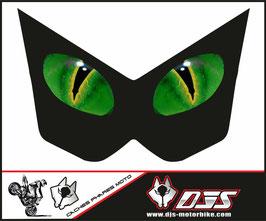 1 jeu de caches phares DJS pour Kawasaki Z1000 2003-2009 microperforés qui laissent passer la lumière - référence : Z1000-2003-2009-yeux 16 verts-