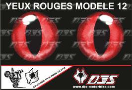 1 jeu de caches phares DJS pour  Aprilia RSV4 2009-2013 microperforés qui laissent passer la lumière - référence : yeux modèle 12-