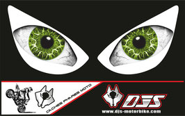 1 jeu de caches phares DJS pour KAWASAKI zx6r-2005-2006 microperforés qui laissent passer la lumière - référence : yeux modèle 18-