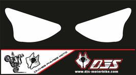 1 jeu de caches phares DJS pour Kawasaki zx6r microperforé qui laisse passer la lumière - référence : ZX6R-2003-2004-blanc uni-
