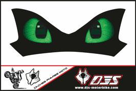 1 cache phare DJS pour Kawasaki Z900-2015-2020 microperforé qui laisse passer la lumière - référence : Z900-2015-2020-yeux modèle 15-