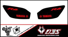 1 jeu de caches phares DJS pour YAMAHA r6 1999-2002 microperforés qui laissent passer la lumière - référence : r6-1999-2002-033