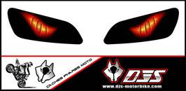 1 jeu de caches phares DJS pour HONDA CBR RR 600-1000 2003-2007 microperforés qui laissent passer la lumière - référence : yeux modèle 6-