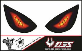 1 jeu de caches phares DJS pour KAWASAKI zx6r-2005-2006 microperforés qui laissent passer la lumière - référence : yeux modèle 6-